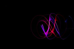 Light painting dark background Royalty Free Stock Photo