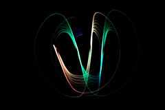 Light painting dark background Stock Photos