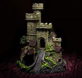 Light painting dark castle Royalty Free Stock Photo