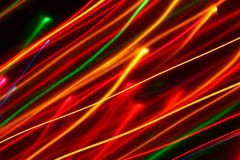 Light Painting Diagonal Blurred Lines Stock Photography