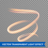 Light painting effect. Glowing fire swirl spiral trail. Light painting trace effect. Glowing fire swirl spiral. Light trace effect. Glow luminous glitter shimmer Royalty Free Stock Image