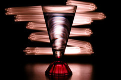 Light painting with glass Royalty Free Stock Images