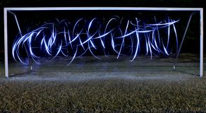 Light Painting GOAL !! Royalty Free Stock Images