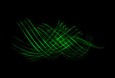 Light Painting in Green royalty free stock photos