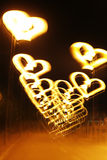 Light painting - Heart & Peace everywhere Stock Photo