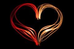 Light painting heart shape Stock Image
