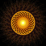 Light painting modern mandala abstract square background Stock Image