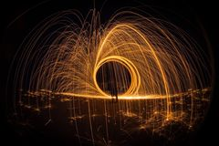 Light Painting at Night Royalty Free Stock Photos
