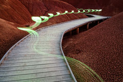 Light Painting in the Painted Hills Royalty Free Stock Photo