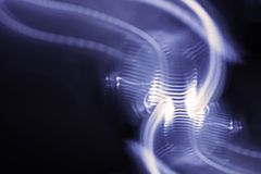 Light Painting Purple Curves Stock Photography