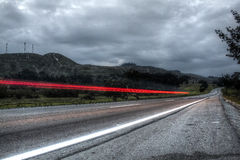 Light painting road Royalty Free Stock Photography