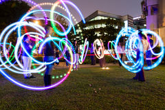 Light Painting. Singapore Night Festival 2015 Stock Photography