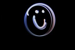 Light Painting Smiley Face Stock Photos