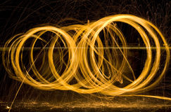 Light Painting Sparks Royalty Free Stock Photo