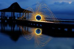 Light painting steel wool Stock Photos