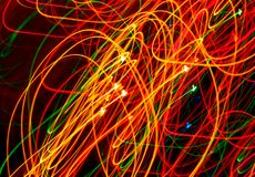Light Painting Swirling Lines Stock Image