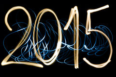 Light painting year 2015 Stock Images