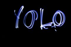 Light Painting YOLO Stock Photography