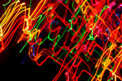 Light Painting Zig Zap Lines. Abstract light painting of color Stock Photos