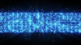 Light panel of glowing blue circles Stock Image