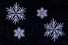 Light panels. Snowflakes. Stock Photography