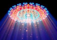 Light of paradise. Paradise light passes through the glass of church Royalty Free Stock Photos
