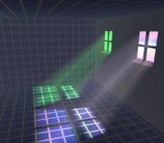 Light passing through the windows Stock Image