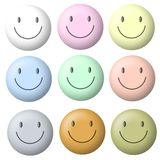 Light Pastel Smiley Faces Royalty Free Stock Photo