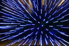 Light pattern of blue light strips Royalty Free Stock Photos