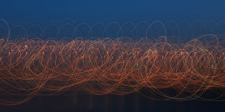 Light pattern of light on a long exposure. Royalty Free Stock Photos