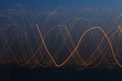 Light pattern of light on long exposure. Royalty Free Stock Photos