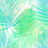 Light pattern with palm leaves Royalty Free Stock Image