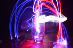 Light Patterns by Sparklers Royalty Free Stock Photo