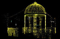 The light of pavilion. The lights on the pavilion are shining beautifully Stock Photos