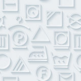 Light perforated paper. Royalty Free Stock Photography