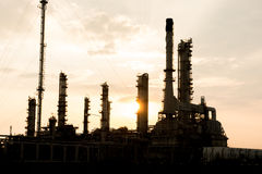 Light of petrochemical industry power station Royalty Free Stock Image