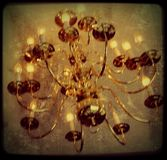 Light. A photo of a chandelier Stock Photo