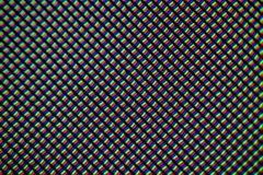 Light photomicrograph of a mobile LCD screen seen through a microscope.  Stock Photography