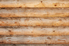 Light pine wood logs background Royalty Free Stock Photos