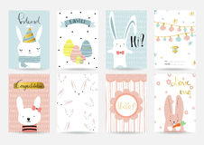 Light pink blue collection for banners, Flyers, Placards and Pos on summer. Light pink blue collection for banners, Flyers, Placards and Posters with rabbit and Royalty Free Stock Photography