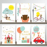 Light pink blue green collection for banners, Flyers, Placards  Stock Photos