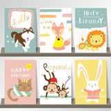 Light pink blue green collection for banners, Flyers, Placards  Stock Photography