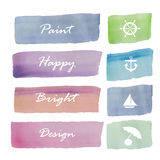 Light pink blue green violet love pastel banner Royalty Free Stock Image