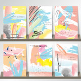Light pink blue green yellow collection for banners, Flyers,  Royalty Free Stock Images