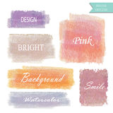 Light pink blue violet orange love pastel banner Stock Photos