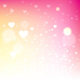 Light pink blurred valentine background Stock Photos