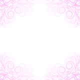 Light pink corners Royalty Free Stock Images