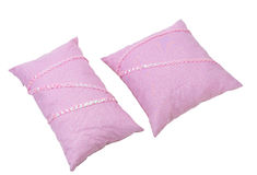 Light pink cushion pillows Stock Images