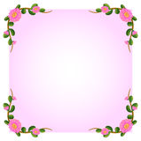A light pink empty template with flowers Stock Image