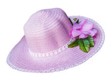 Light Pink Fashion Hat Isolated Stock Photography